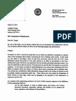 Yaeger Termination Letter