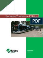 Resultados Encuesta Transporte Publico FACUA Granada