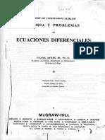 Ecuaciones Diferenciales Frank Ayres Schaum