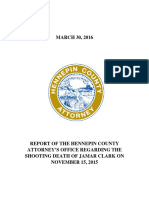 Report of Hennepin County Attorney Regarding Death of Jamar Clark 3-30-16