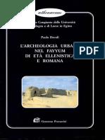 L'Archeologia Urbana Nel Fayyum Di Età