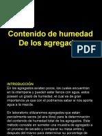 Contenido de Humedad - Tec. Concreto
