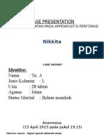 1. Slide Appendisitis Perforasi Nikki