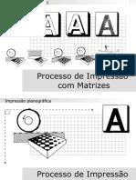 Proceso de impresión con matrices