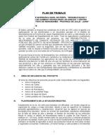 Plan de Trabajo Camino Vecinal Monobamba