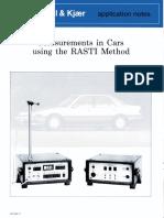 Rasti Method in Cars