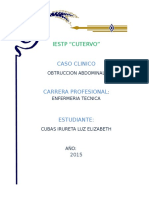Caso Clinico Obstruccion Abdominal