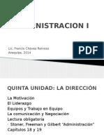 Administración i. Motivación y Liderazgo