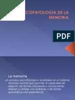 Psicopatologia de La Memoria