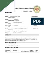 Himanshu Gurjar New Resume