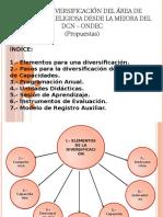 Procesos de Diversificación Dcn Mejorado Ondec