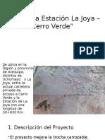 Presentación Carretera Estación La Joya Cerro Verde