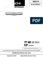 Dvd - Hitachi Dv-rx7000e Sm