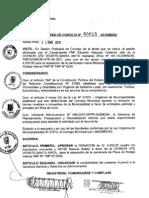 ACUERDO DE CONSEJO 015-2010/MDSA