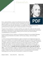 Biografia de Henry Cavendish