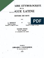 Dicionário Etimológico de Latim