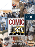 Comic Con Spain 2016 - Calendario Actividades