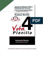 Manifiesto de apoyo al Lic. Gustavo Bonilla