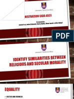 Similarities of Religious and Secular Morality