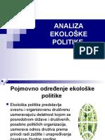 Miljana Savić, Sandra Pavlović - Analiza Ekološke Politike