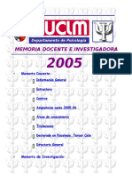 Memoria Docente 2005