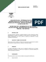 NMX AA Fisicos Solidos Sedimentables