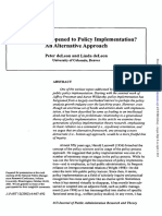 What Ever Happened to Policy Implementation an Alternative Approach