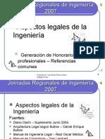 Estudio Sobre Honorarios Profesionales de Los Ingenieros