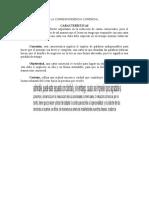 Caracteristicas de La Correspondencia Comercial