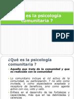 3 Qué Es La Psicología Comunitaria.presENTACION