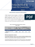 Relatorio Incc-m Fechamento Mar16