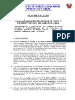 Plan de Trabajo - Liquidacion de Corte - Agua y Saneamiento - Naranjos