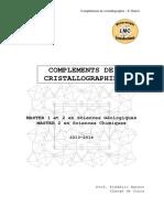 Compléments de Cristallographie - F.hatert - 2013-2014