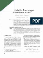 Biolixiviacion de Un Mineral de Manganeso y Plata