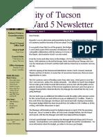 Ward 5 March 2016 Newsletter