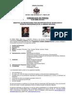 Comunicado Prensa Suboficial Cuerpo Administrativo Segundo Semestre