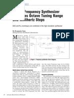 AMW9905 Hybrid Frequency Synthesizer Combines Octave Tuning Range and Millihertz Steps
