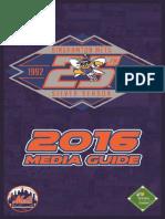 2016 Binghamton Mets Media Guide