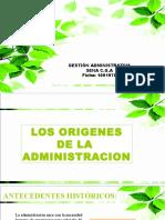 Capitulo 2 Origenes de La Administración
