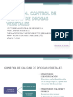 Control de Calidad de Drogas Vegetales