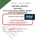 lockdown drill report-1 9-15-15