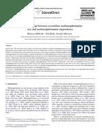 The relationship between crystalline methamphetamine use and methamphetamine dependence mcketin 2006
