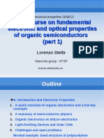 Mini-course on Fundamental Electronic and Optical Properties of Organic Semiconductors-part1