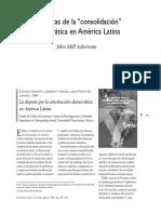 Ackerman - Dinamicas de La Consolidacion Democratica en America Latina