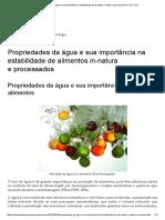 Propriedades Da Água e Sua Importância Na Estabilidade de Alimentos in-natura e Processados _ Food Tech