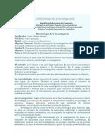 Unidad I Objetivo 1 Metodología de La Investigaciçón