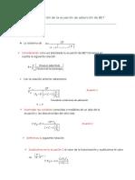 Demostración de Ecuación de BET