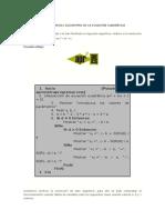 Ejercicio Verificación Del Algoritmo de La Ecuación Cuadrática