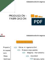 Produccion y Fabricacion (Administración de empresas)