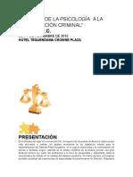 Aportes de La Psicología Criminal